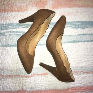 Shoes - Brown Suede Heels